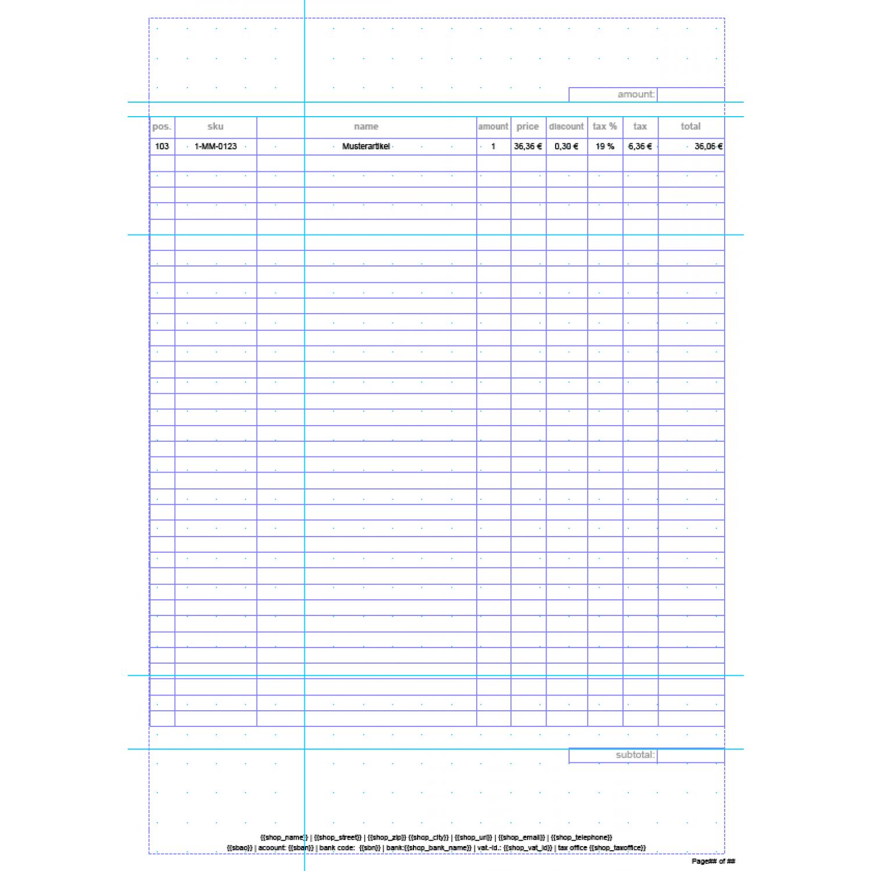 invoice pdf pro standard invoice template english. Black Bedroom Furniture Sets. Home Design Ideas