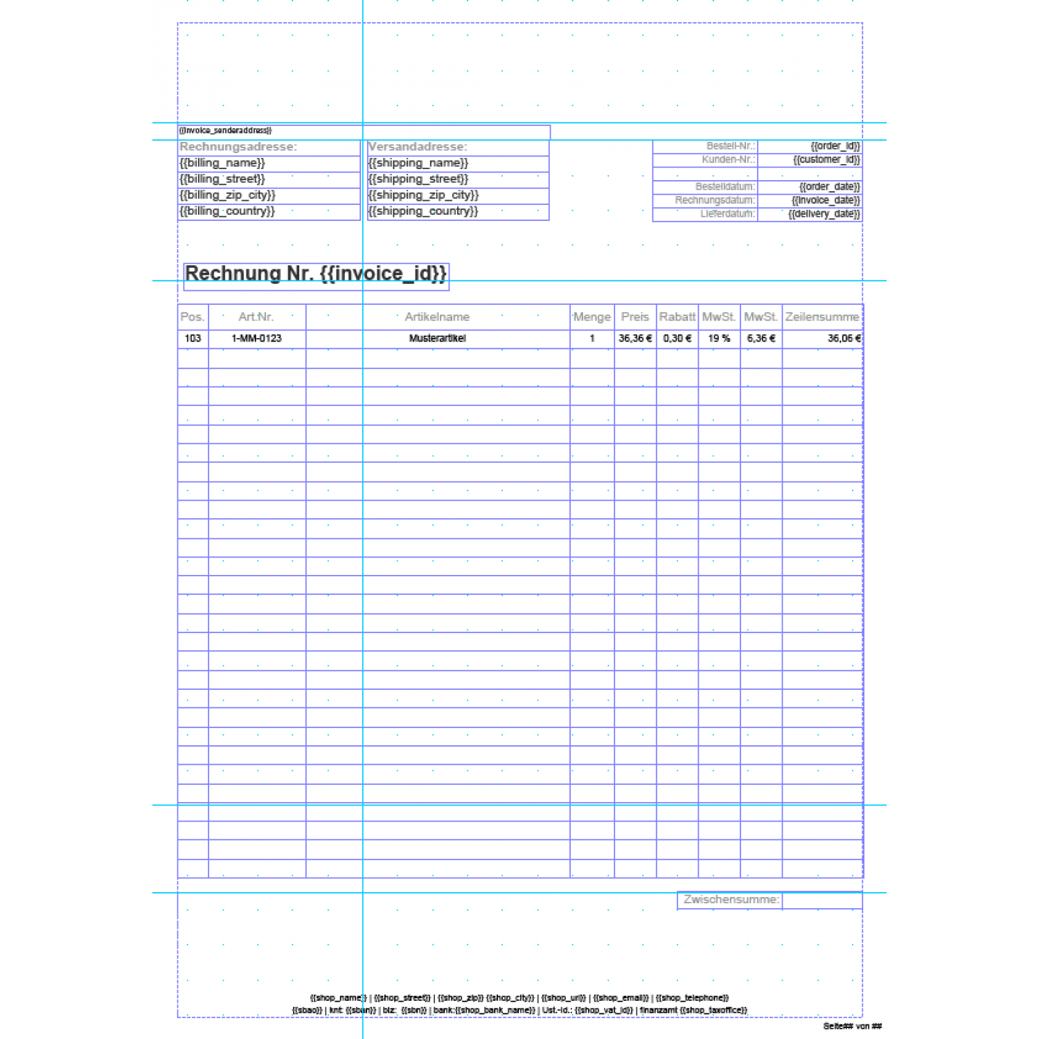 Invoice pdf pro standard invoice template german aromicon standard invoice template german layout multi page invoice first page pronofoot35fo Images