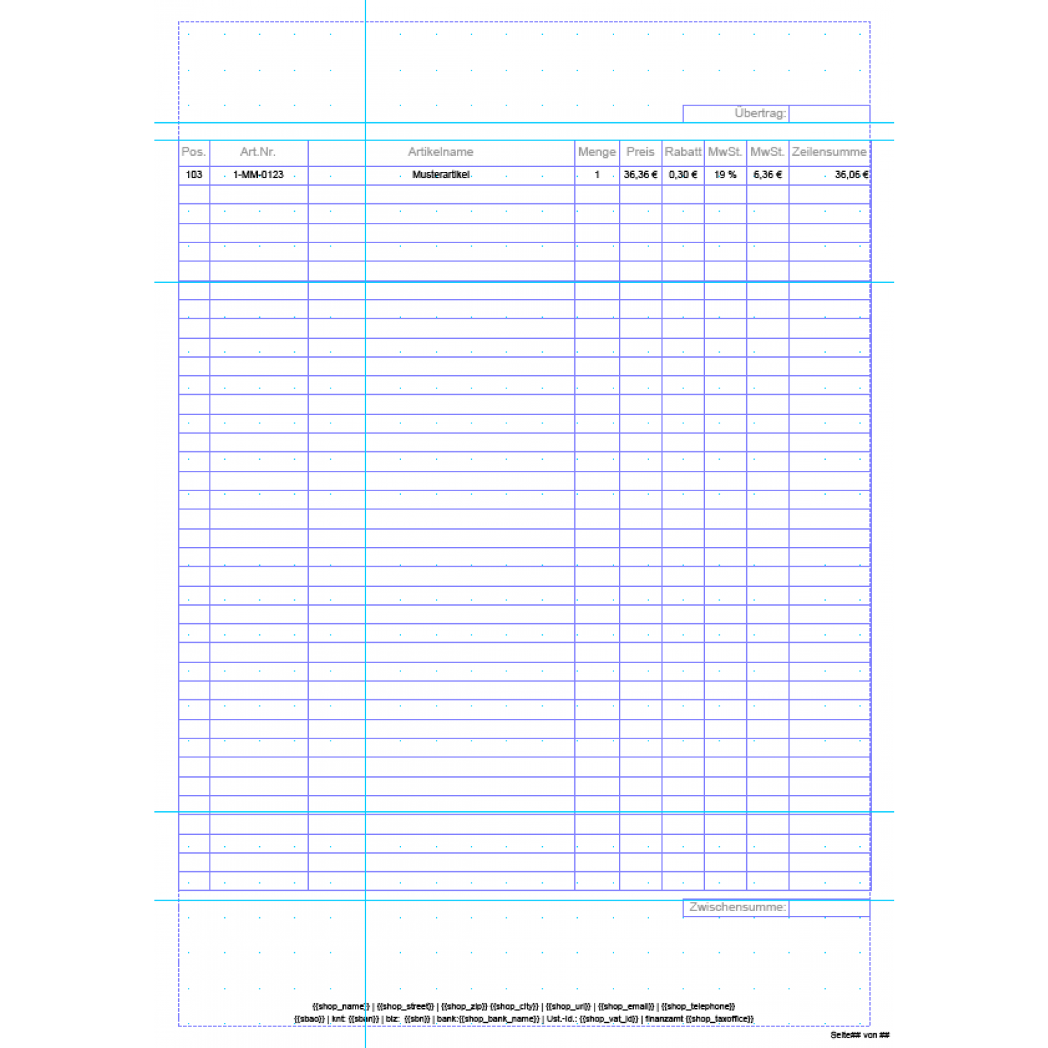 invoice pdf pro standard invoice template german aromicon standard invoice template german layout multi page invoice additional page