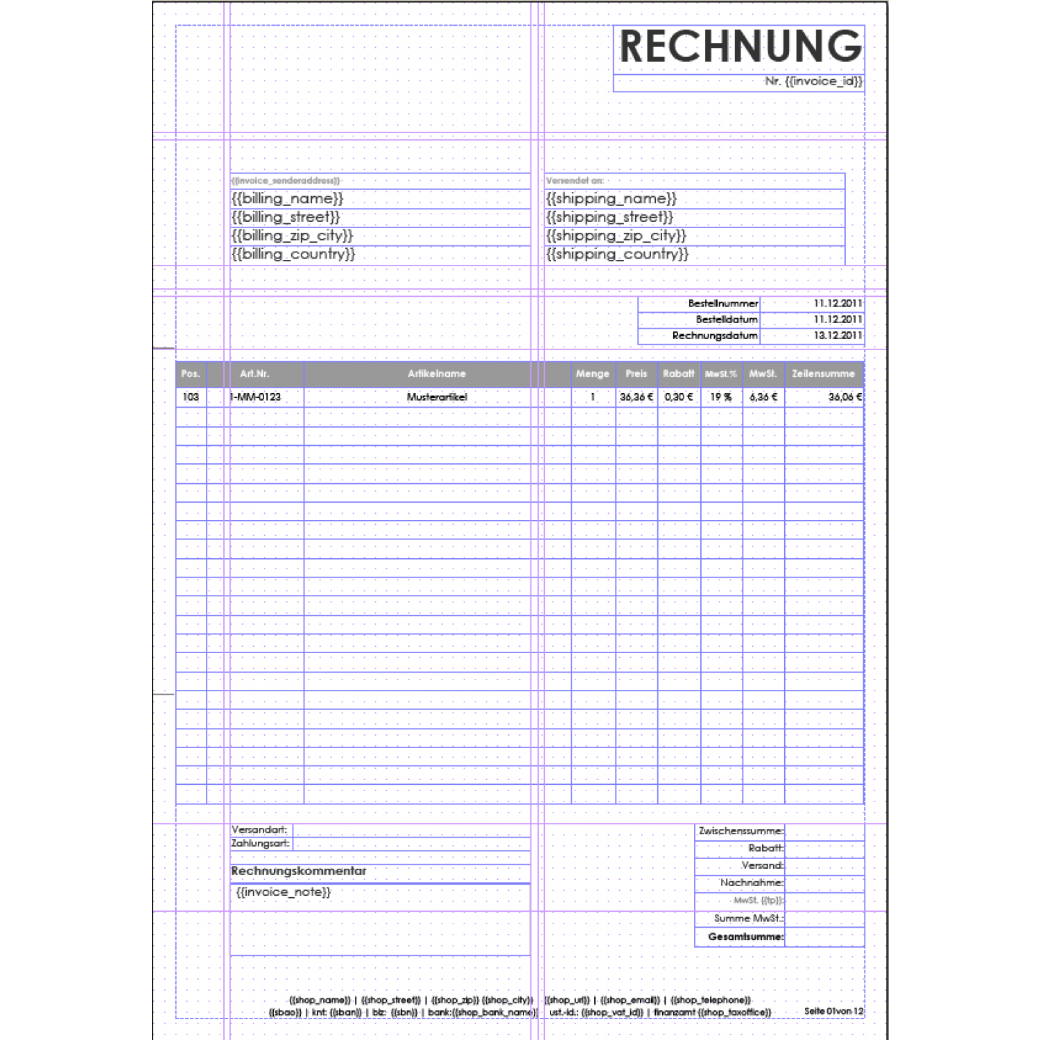 invoice pdf pro windowinvoice invoice template german windowinvoice box german middot windowinvoice example invoice middot windowinvoice layout einseitige rechnung